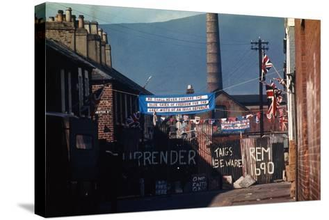 Barricade Erected by Belfast Protestants 1969--Stretched Canvas Print