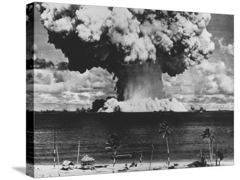 Nuclear Test Cloud in Pacific--Stretched Canvas Print
