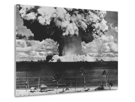 Nuclear Test Cloud in Pacific--Metal Print