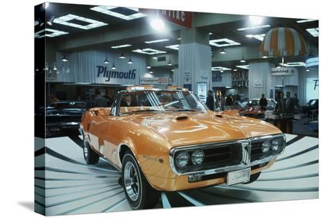 Pontiac Firebird at New York Auto Show--Stretched Canvas Print