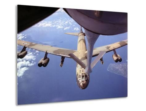 View of USAF B-52 Stratofortress Bomber in Flight--Metal Print