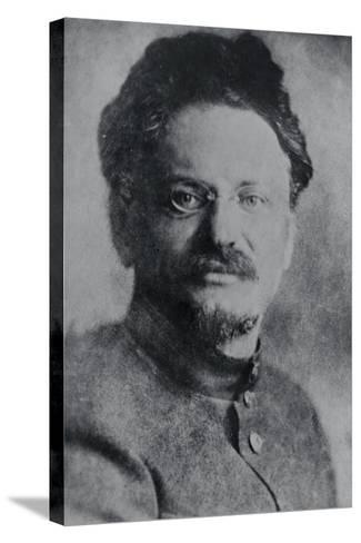 Portrait of Leon Trotsky--Stretched Canvas Print
