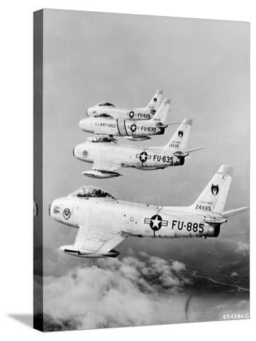 Flight of F-86 Sabrejets Guard the Philippines--Stretched Canvas Print