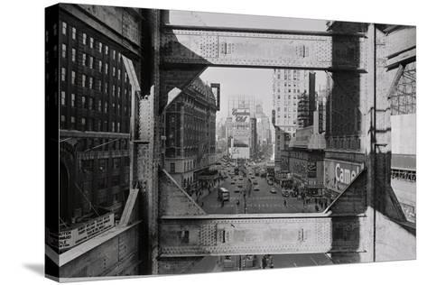 View of Steel Girders of the Old times Tower--Stretched Canvas Print