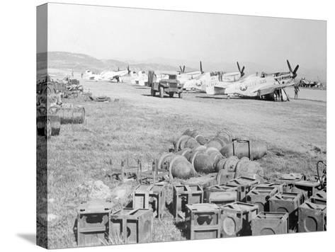 View of Military Armament Field--Stretched Canvas Print