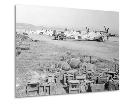 View of Military Armament Field--Metal Print