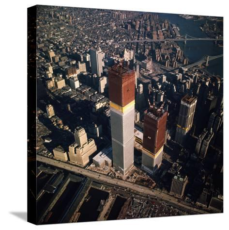 World Trade Center as Seen from the Sky--Stretched Canvas Print