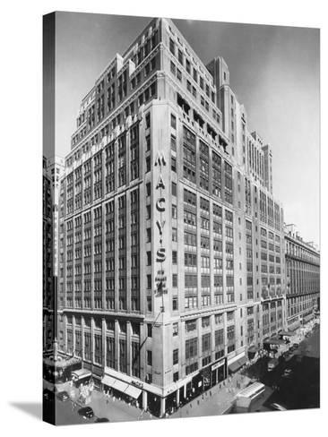 Exterior of Macy's Department Store--Stretched Canvas Print