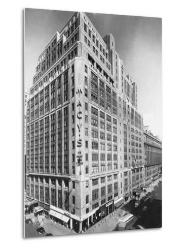 Exterior of Macy's Department Store--Metal Print