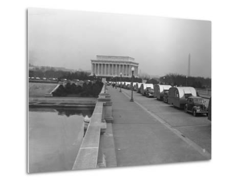Cars Towing FSA Trailers-Royden Dixon-Metal Print