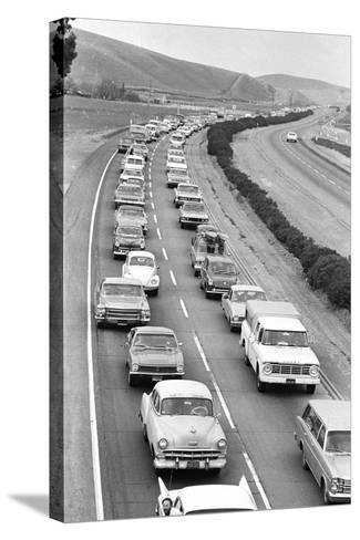 Traffic Jam due to Rolling Stones Concer--Stretched Canvas Print
