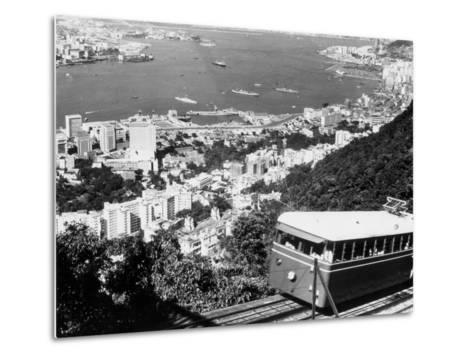 Peak Train with Hong Kong in Foreground-Philip Gendreau-Metal Print