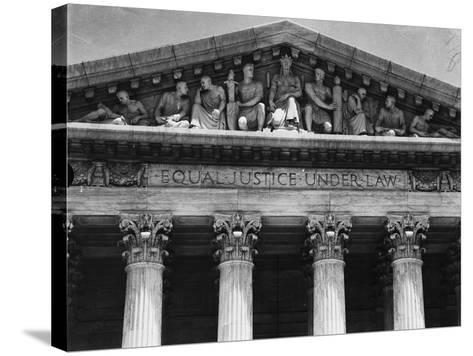 Pediment of the Supreme Court--Stretched Canvas Print