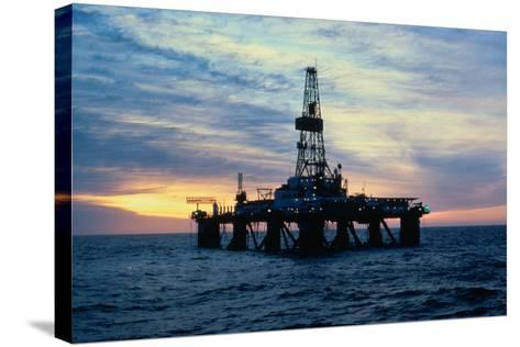 Oil Drilling Rig--Stretched Canvas Print