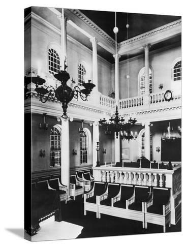Interior View of Touro Synagogue--Stretched Canvas Print