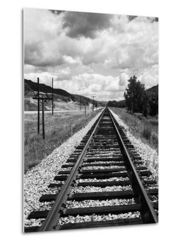 Railroad Tracks Stretching into the Distance-Philip Gendreau-Metal Print