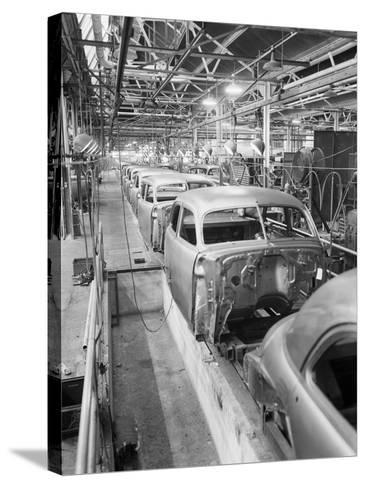 Empty Assembly Line at Auto Body Plant--Stretched Canvas Print