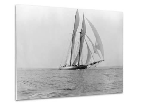 Yacht in the Sea--Metal Print