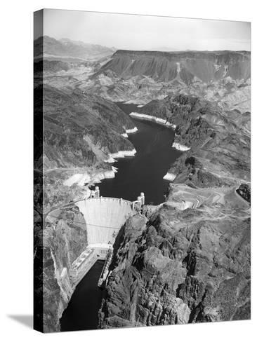 Aerial View of Hoover Dam-Charles Rotkin-Stretched Canvas Print