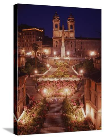 Spanish Steps--Stretched Canvas Print