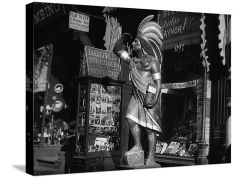 Wooden Native American Cigar Shop Statue--Stretched Canvas Print