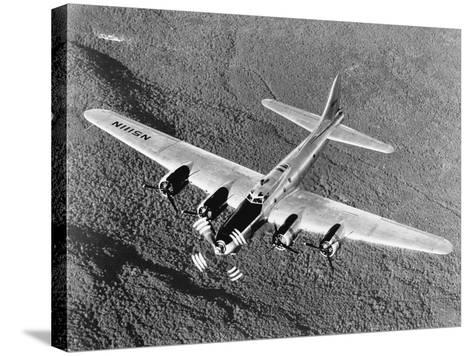 B-17 Flying Fortress in Flight--Stretched Canvas Print