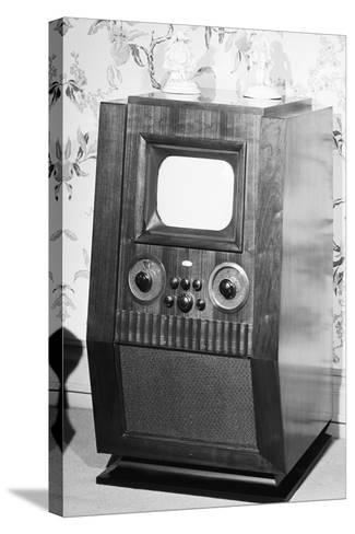 Television Set of the 1940'S--Stretched Canvas Print