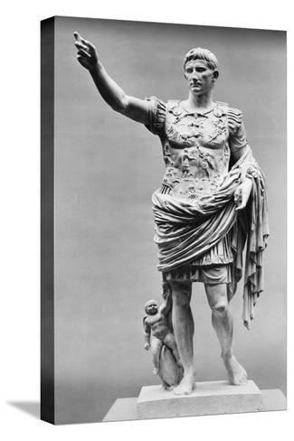 Augustus of Prima Porta Ancient Roman Statue--Stretched Canvas Print