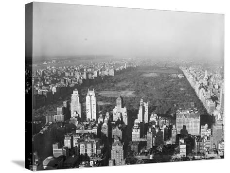 Aerial View of Central Park--Stretched Canvas Print