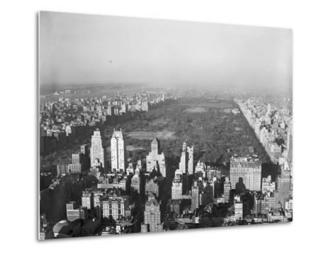 Aerial View of Central Park--Metal Print