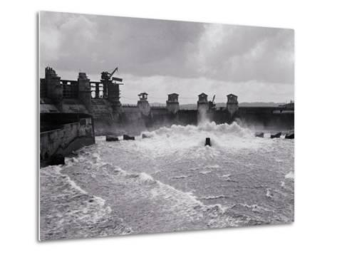 Construction of the Panama Canal--Metal Print