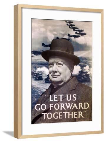 Let Us Go Forward Together', World War Two Propaganda Poster, 1940--Framed Art Print