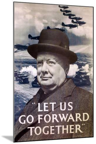 Let Us Go Forward Together', World War Two Propaganda Poster, 1940--Mounted Giclee Print