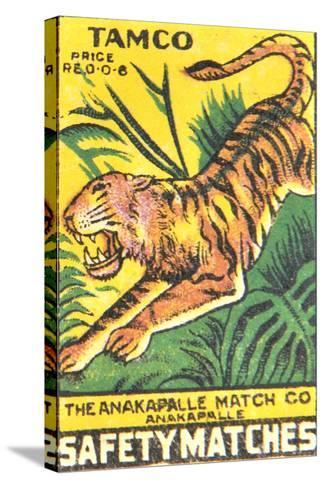 Matchbox Label--Stretched Canvas Print