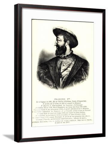 Künstler König Francois 1Er, Comte D'Angloulême--Framed Art Print