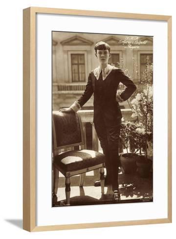 S.K.H. Erbprinz Luitpold Von Bayern Als Junge--Framed Art Print