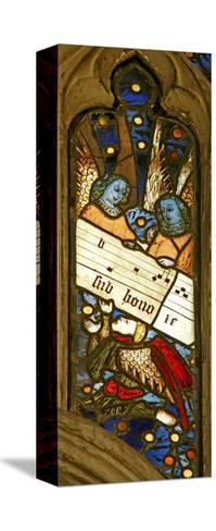 Window N2 Depicting the Angelic Choir with Musical Score--Stretched Canvas Print