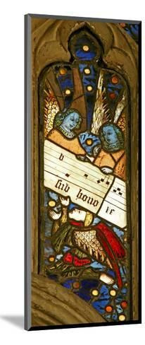 Window N2 Depicting the Angelic Choir with Musical Score--Mounted Giclee Print