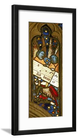 Window N2 Depicting the Angelic Choir with Musical Score--Framed Art Print