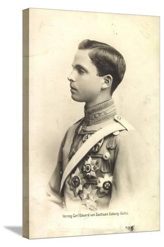 Herzog Carl Eduard Von Sachsen Coburg Gotha,Portrait--Stretched Canvas Print