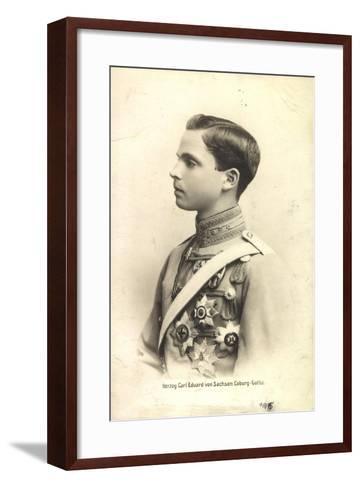 Herzog Carl Eduard Von Sachsen Coburg Gotha,Portrait--Framed Art Print