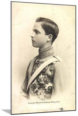 Herzog Carl Eduard Von Sachsen Coburg Gotha,Portrait--Mounted Giclee Print