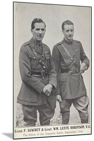 Lieutenants Frederick Sowrey and William Leefe Robinson--Mounted Photographic Print