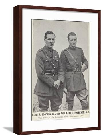 Lieutenants Frederick Sowrey and William Leefe Robinson--Framed Art Print