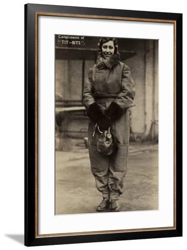 Amy Johnson, British Aviator--Framed Art Print