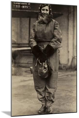 Amy Johnson, British Aviator--Mounted Photographic Print