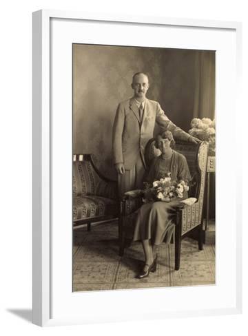 Herzog Ernst August Von Braunschweig Mit Frau--Framed Art Print
