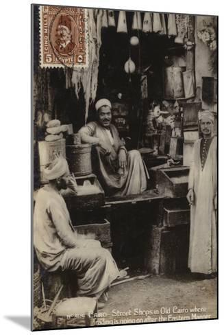 Street Shops in Old Cairo, Egypt--Mounted Photographic Print