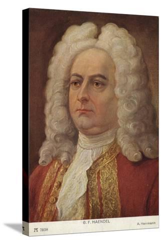 Portrait of George Friedrich Handel--Stretched Canvas Print