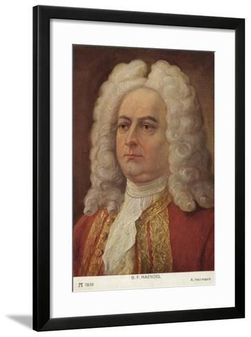 Portrait of George Friedrich Handel--Framed Art Print